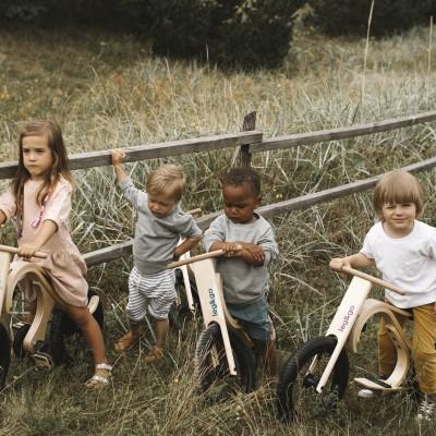 ScandiBike- FULL PAKKE: Barnesykkel (3 i 1), Gynge-elefant, Downhill-sykkel, Pedalsykkel, Trehjulssykkel